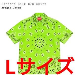 Supreme - L Supreme Bandana Silk S/S Shirt Green