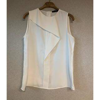 ザラ(ZARA)のZARA ブラウス ホワイト XS(シャツ/ブラウス(半袖/袖なし))