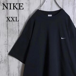 NIKE - 【美品】 ナイキ 刺繍ロゴ スモールロゴ Tシャツ XXL 黒 ビッグシルエット