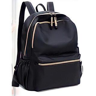 レディース メンズ リュックサック ブラック 黒 シンプル マザーズバッグ