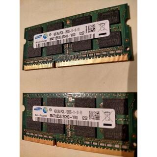 サムスン(SAMSUNG)のサムスン PC3L-12800S (DDR3-1600) 4GB 2枚組(PCパーツ)