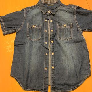 ジーユー(GU)のデニム シャツ 半袖 120(ブラウス)
