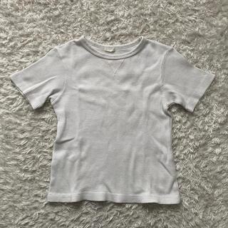ジーユー(GU)の子供服★GU★Tシャツ★ワッフル★ホワイト★130(Tシャツ/カットソー)