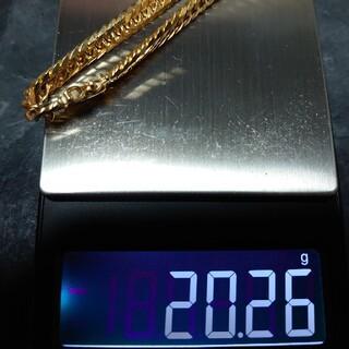 18金 喜平ブレスレット 6面ダブル 20g 18cm