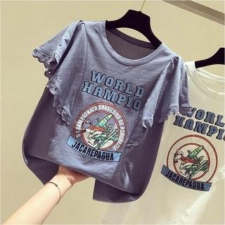 ディーホリック(dholic)のフリル レース Tシャツ【3color】(Tシャツ(半袖/袖なし))
