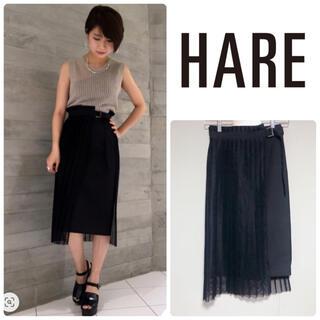 ハレ(HARE)のHARE プリーツレイヤースカート(ひざ丈スカート)