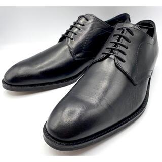 タケオキクチ(TAKEO KIKUCHI)の試し履き一回のみ使用! タケオキクチ プレーントゥ 黒 革靴 25.0〜25.5(ドレス/ビジネス)