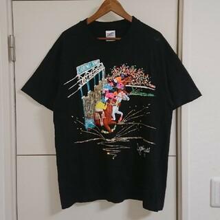 90s USA製 ヴィンテージ 古着 Tシャツ 競馬 派手 奇抜