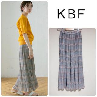 ケービーエフ(KBF)の新品未使用★ KBF チェックプリーツスカート(ロングスカート)