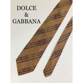 ドルチェアンドガッバーナ(DOLCE&GABBANA)のDOLCE &GABBANA ドルガバ ネクタイ ストライプ シルク イタリア製(ネクタイ)