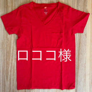 マウジー(moussy)のmoussy×Hanes VネックTシャツ 新品未使用(Tシャツ(半袖/袖なし))