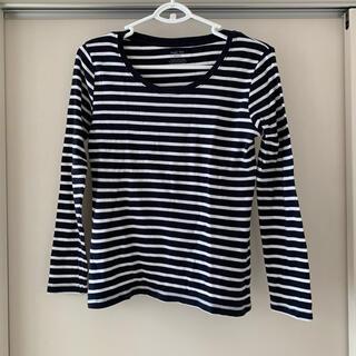 ジーユー(GU)のボーダーカットソー 長袖 ロンT(Tシャツ(長袖/七分))