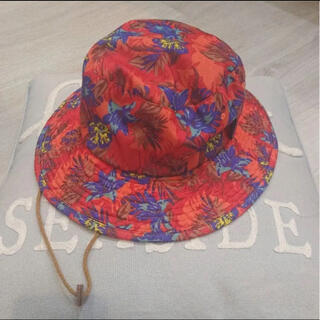 MARKEY'S - 美品 オーシャングラウンド◆ハット帽子 ボタニカル花柄 水着水遊び登山