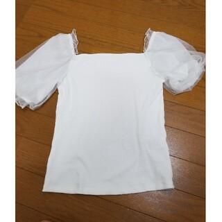 ジーユー(GU)のGUパプスリーブカットソー(カットソー(半袖/袖なし))