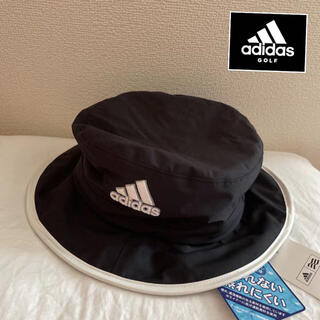 アディダス(adidas)の新品/アディダスゴルフメンズバスケットハット/レインハット/帽子/黒/58cm(ウエア)
