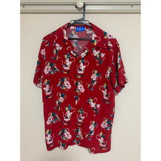 ディズニー(Disney)のディズニー★ミニーアロハシャツ★Sサイズ(シャツ/ブラウス(半袖/袖なし))
