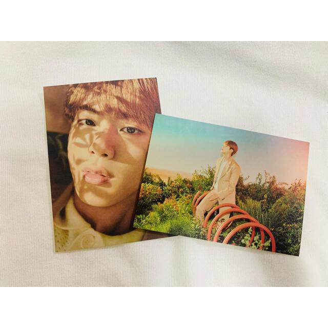 防弾少年団(BTS)(ボウダンショウネンダン)のBTS HYBE ジン ポストカード エンタメ/ホビーのCD(K-POP/アジア)の商品写真