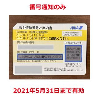 ANA株主優待券 日本航空 番号通知のみ(その他)