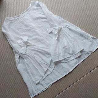 ジーユー(GU)の袖フリルブラウス(シャツ/ブラウス(長袖/七分))