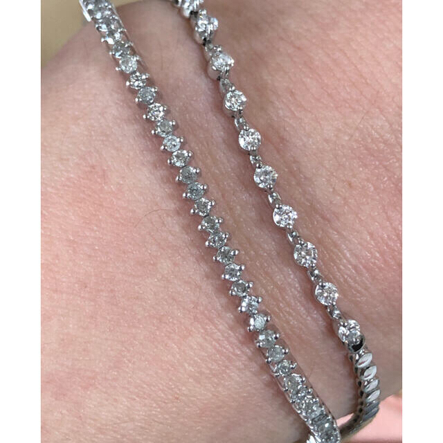 プラチナ ダイヤモンド ブレスレット pt850 レディースのアクセサリー(ブレスレット/バングル)の商品写真