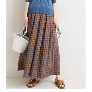 IENA - ☆新品タグ付☆IENA ギンガムギャザースカート 34