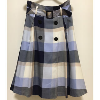 BURBERRY BLUE LABEL - クレストブリッジ  膝丈スカート