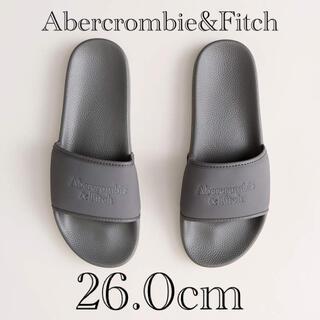 アバクロンビーアンドフィッチ(Abercrombie&Fitch)の新品★ Abercrombie&Fitch ロゴ スライド サンダル 26cm(ビーチサンダル)