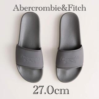 アバクロンビーアンドフィッチ(Abercrombie&Fitch)の新品★ Abercrombie&Fitch ロゴ スライド サンダル 27cm(ビーチサンダル)