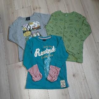 ジーユー(GU)の長袖Tシャツ3枚セット  110  ロンT(Tシャツ/カットソー)