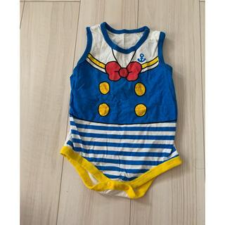 ディズニー(Disney)のドナルドダック カバーオール 80 ベビー服(カバーオール)