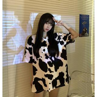 【今季トレンド☆】牛柄ビッグTシャツ おしゃれ韓国オルチャンストリート