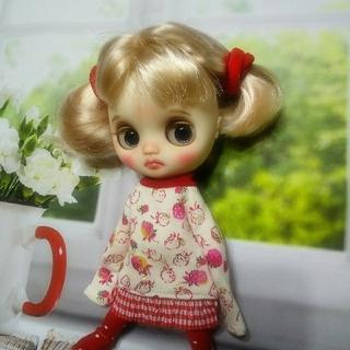 カスタムアイシードールちび💖#cha☆ icyドールミディブライスサイズ(ぬいぐるみ/人形)