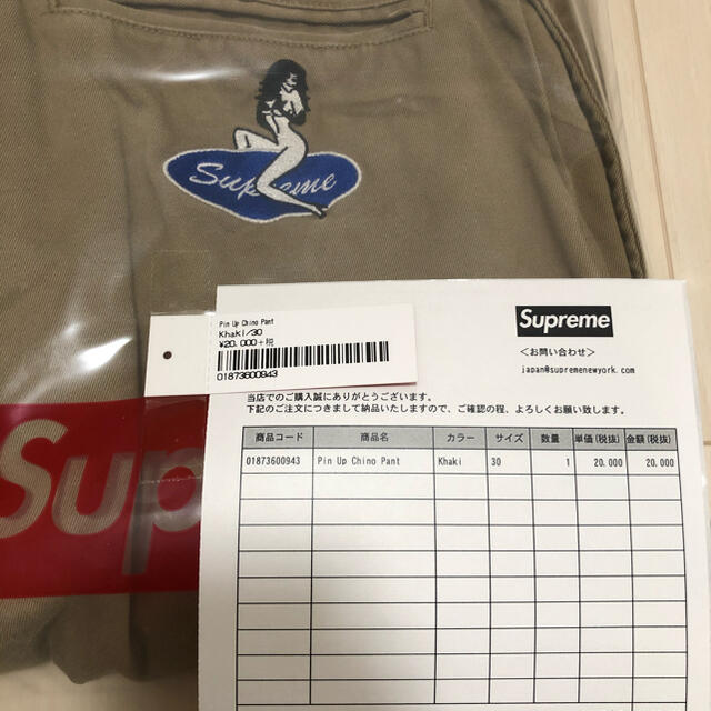 Supreme(シュプリーム)のSupreme Pin Up Chino Pant 30 メンズのパンツ(チノパン)の商品写真