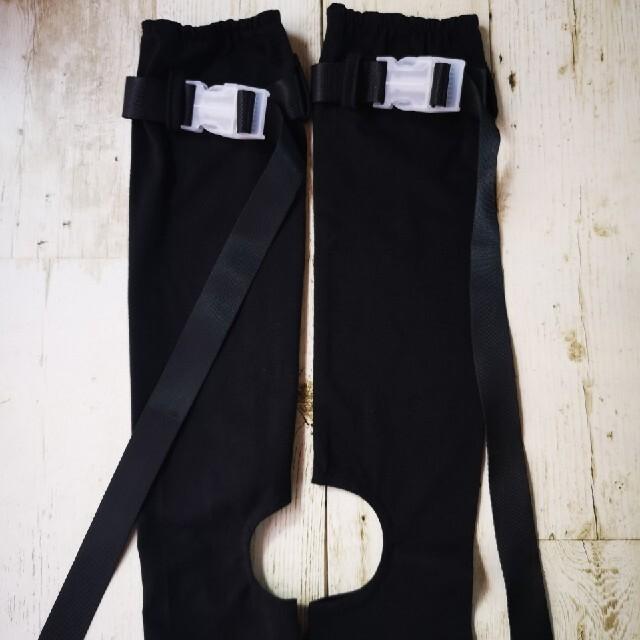 大きめバックルがついたデザイン系アームカバー オールシーズンOKユニセックスOK レディースのファッション小物(手袋)の商品写真
