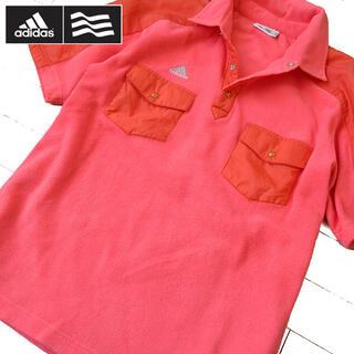 アディダス(adidas)の超美品 L アディダス ゴルフ レディース フリースプルオーバー ピンク(ウエア)