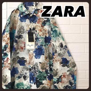 ザラ(ZARA)の☆タグ付き未使用☆ ZARA 長袖 シャツ 花柄 総柄 ※初期エラーあり(シャツ)