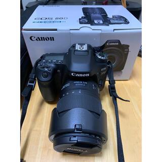 キヤノン(Canon)のCanon EOS 80D(W) EF-S18-135 IS USMレンズキ…(デジタル一眼)