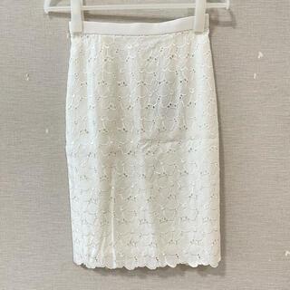 JUSGLITTY - 【新品】ジャスグリッティー シャンブレー刺繍レースタイトスカート