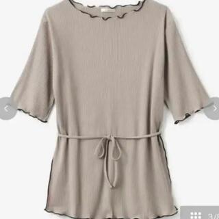 シマムラ(しまむら)の新品タグ付き⭐︎てらさん 紐付き配色テレコT メロウ しまむら terawear(Tシャツ(半袖/袖なし))