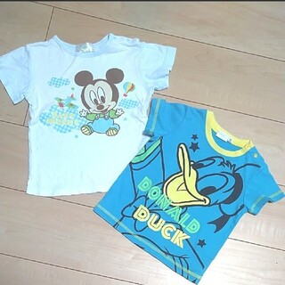 Disney - 幼児 ディズニープリント  半袖Tシャツ セット 男の子
