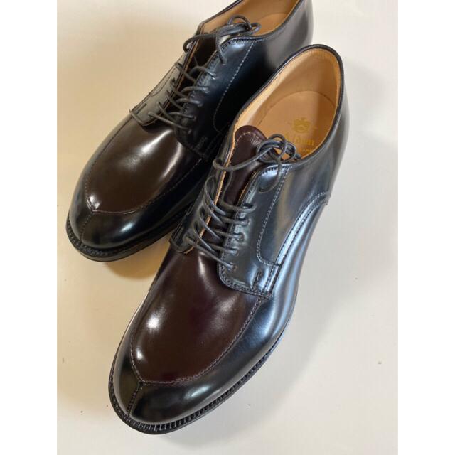 Alden(オールデン)のオールデン Vチップバーガンディ×ブラックコンビコードバン メンズの靴/シューズ(ドレス/ビジネス)の商品写真