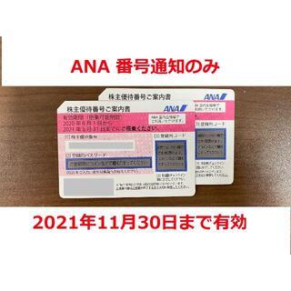 ANA株主優待券2枚 番号通知のみ(その他)