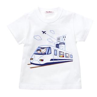 familiar - 【familiar】現行品 おはなし Tシャツ 半袖 ファミちゃん 新幹線