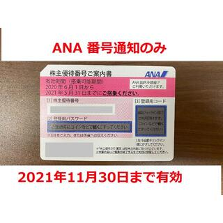 ANA株主優待券 番号通知のみ(その他)