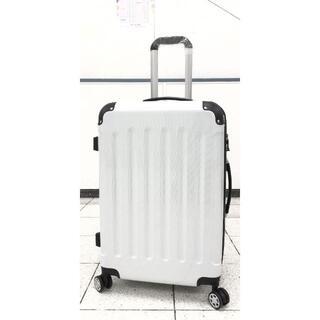 大型軽量スーツケース 8輪キャリーバッグ TSAロック付き Lサイズ 白(旅行用品)