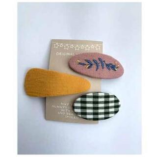 ベビー 韓国 刺繍ピン 3本セット(その他)