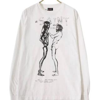 21ss SAINT MICHAEL SMxDENIMTEARS LS TEE(Tシャツ/カットソー(七分/長袖))
