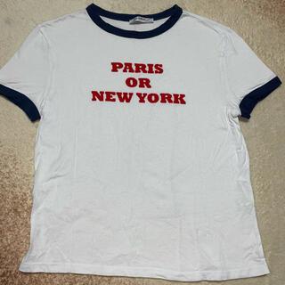 ザラ(ZARA)のzara Tシャツ 半袖 ロゴT(Tシャツ(半袖/袖なし))