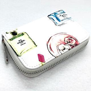 コスメ柄 レザー コンパクト キュート カードケース 小銭入れ
