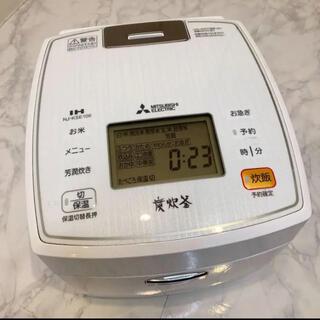 ミツビシデンキ(三菱電機)の三菱電機 日本製 IH炊飯器 備長炭炭炊釜 5.5合 NJ-KSE106(炊飯器)
